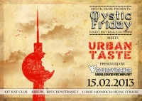 Flyer - Mystic Friday meets Urban Taste